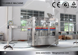 Rotary 3 in 1 Tea , Beer , Water Bottle Filling Machine For Industry Soft Drink Bottling